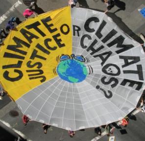 350.org Parachute for Copenhagen COP