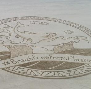 European Environmental Bureau Sand Murals