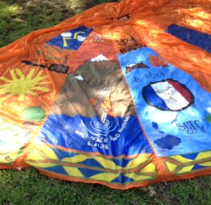Native American Collaborative Inter-tribal Parachute (via On the Road for Climate Action)