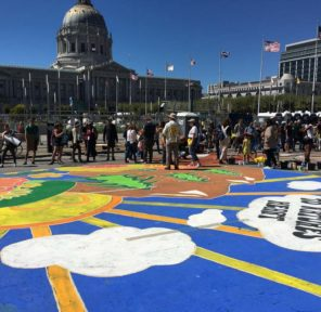 San Francisco Climate March Mural at City Hall (D)