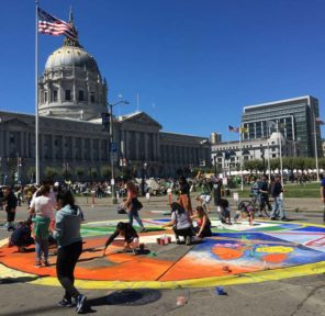San Francisco Climate March Mural at City Hall (C)