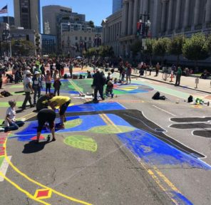 San Francisco Climate March Mural at City Hall (B)
