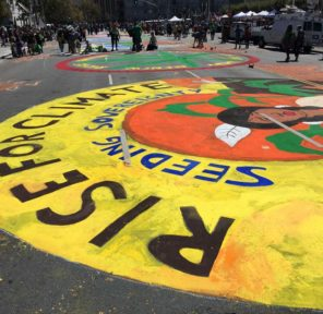 San Francisco Climate March Mural at City Hall (A)