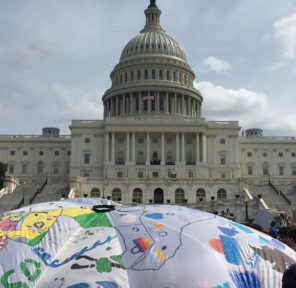 US Climate Student Strike at US Capitol (80 Parachutes)