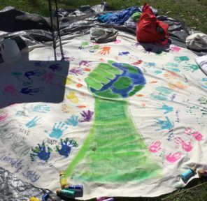 Citizens\' Climate Lobby Kalamazoo (MI-6) (2 Parachutes)
