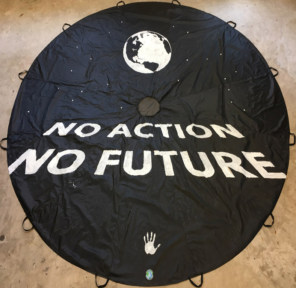NO ACTION NO FUTURE - Official MEP Parachute