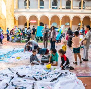 National Building Museum Big Build (150 Parachutes)