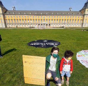 Friday Social Distancing Climate Strike Univ of Bonn