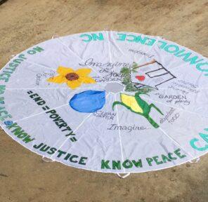 Campaign Nonviolence NC (4 Parachutes)